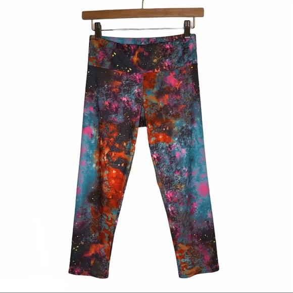 Onzie Galaxy Big Bang Capri Leggings S/M